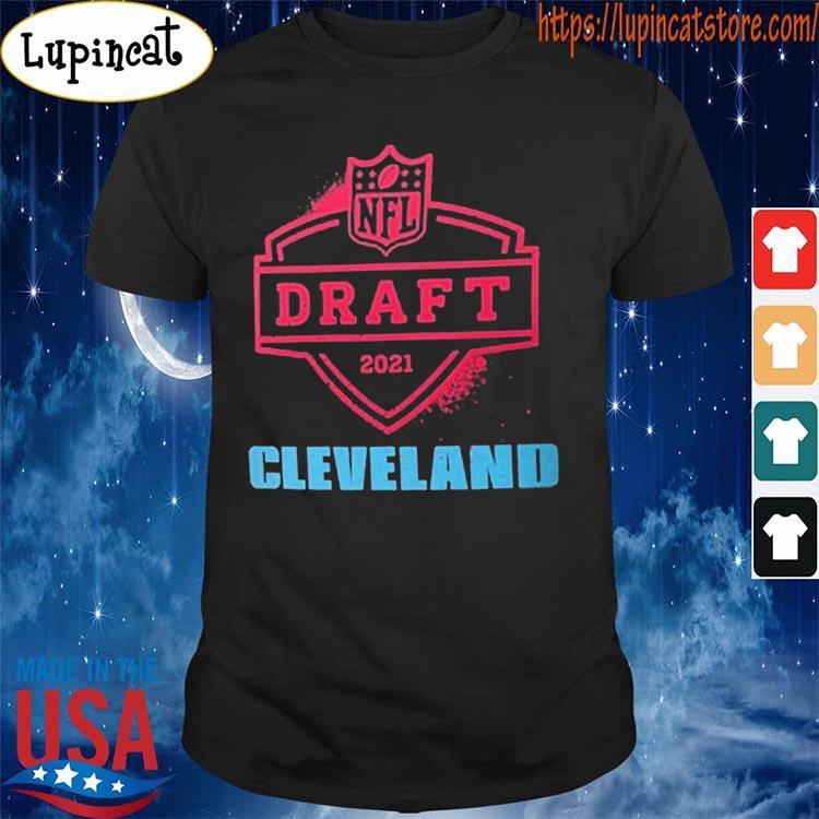 2021 NFL Draft Cleveland Nike Black Logo T-Shirt Shirt