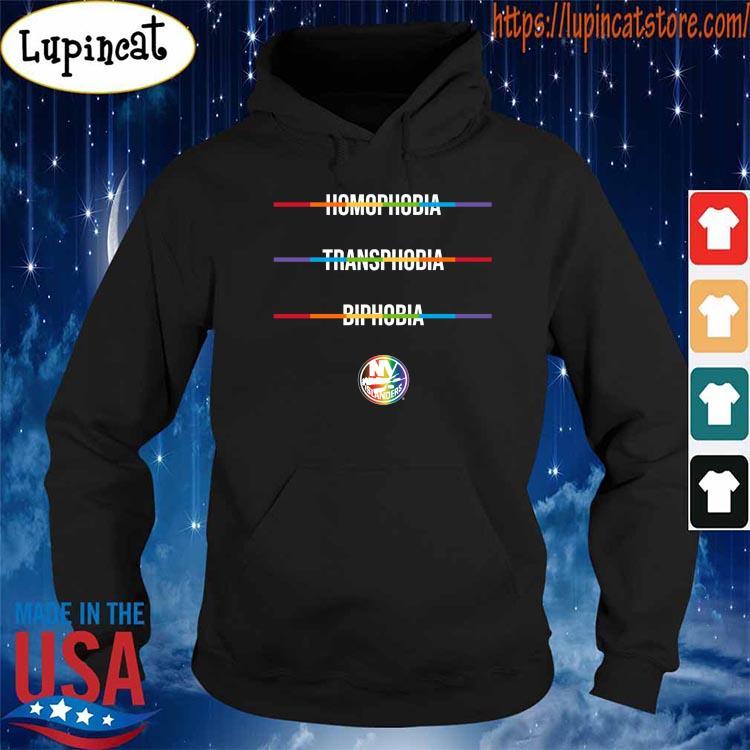 Homophobia Transphobia Biphobia Pride NHL New York Islanders shirt