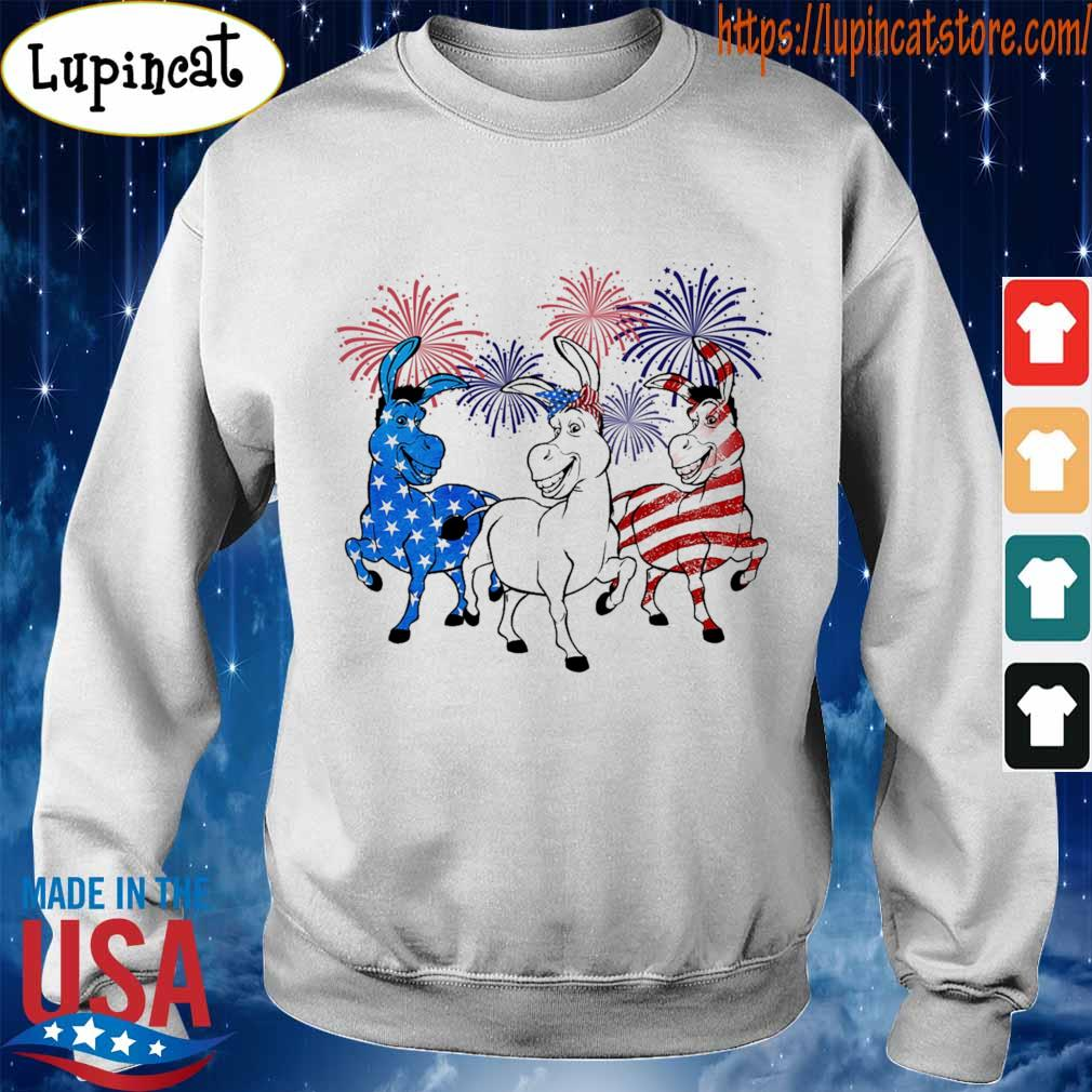 Donkey 2 flag happy American independence Day s Sweatshirt