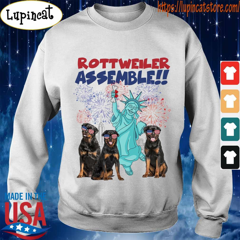 Rottweiler Assemble happy independence American s Sweatshirt