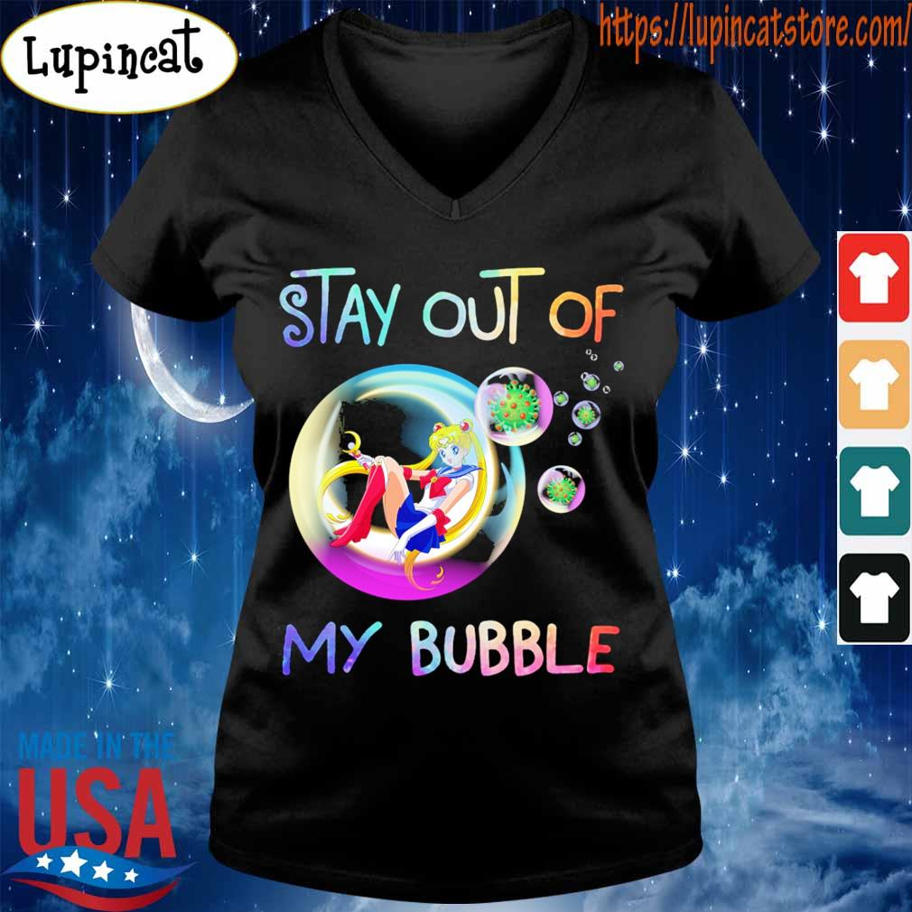 Sailor moon stay out of my bubble s V-neck