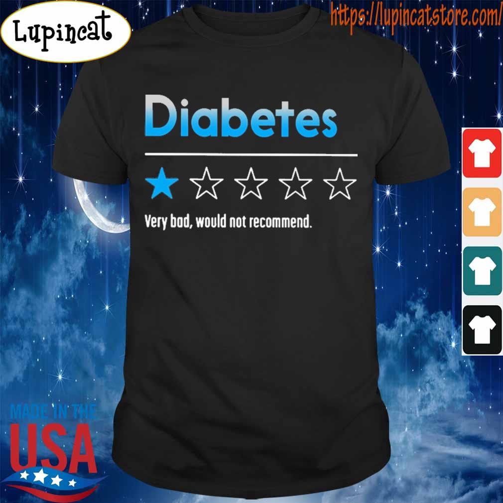 Diabetes very bad would not recommend 2020 shirt