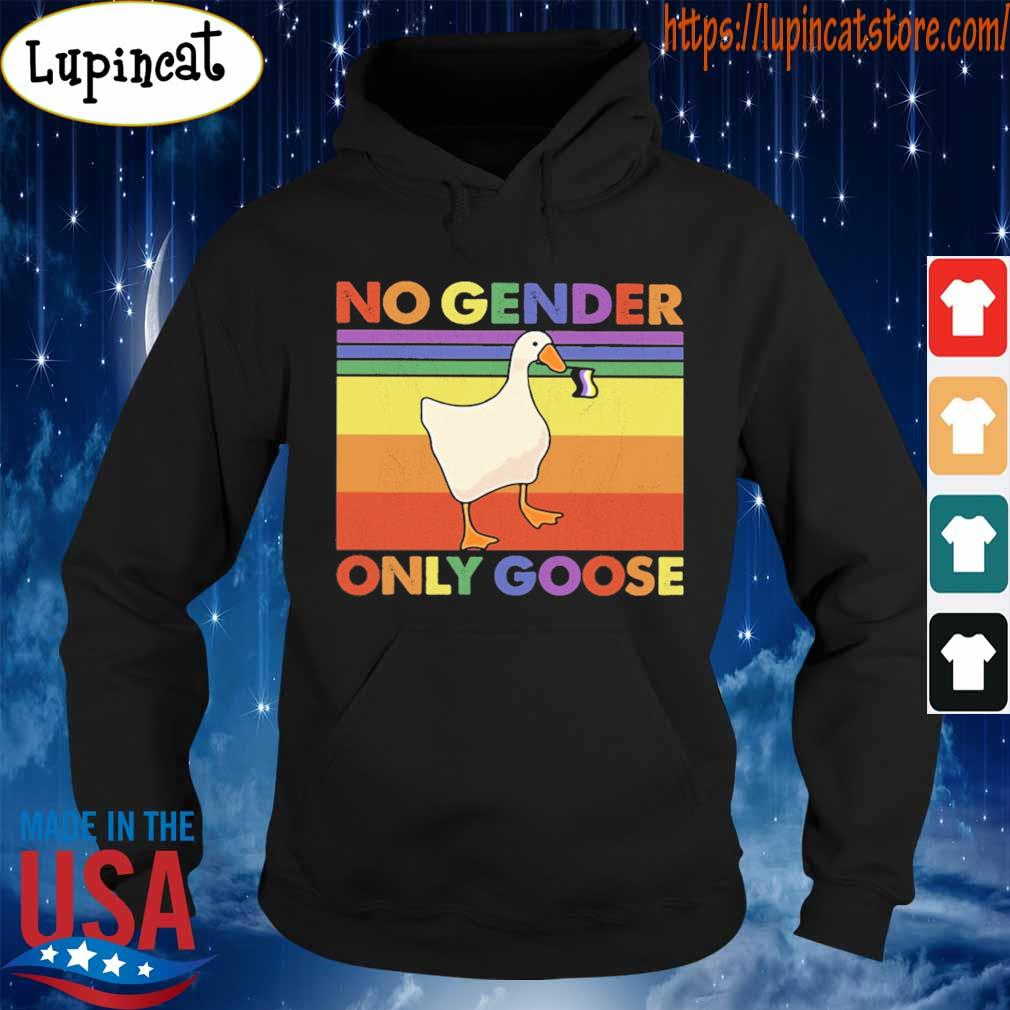 Duck no gender only goose LGBT flag s Hoodie