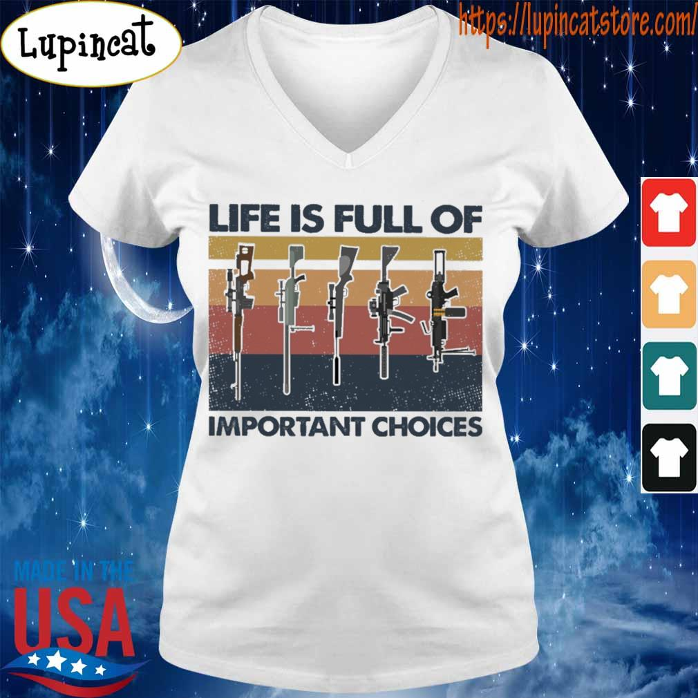 Gun Life is full of important choices vintage s V-neck