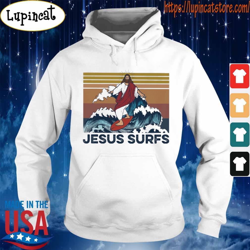 Jesus surfs vintage s Hoodie