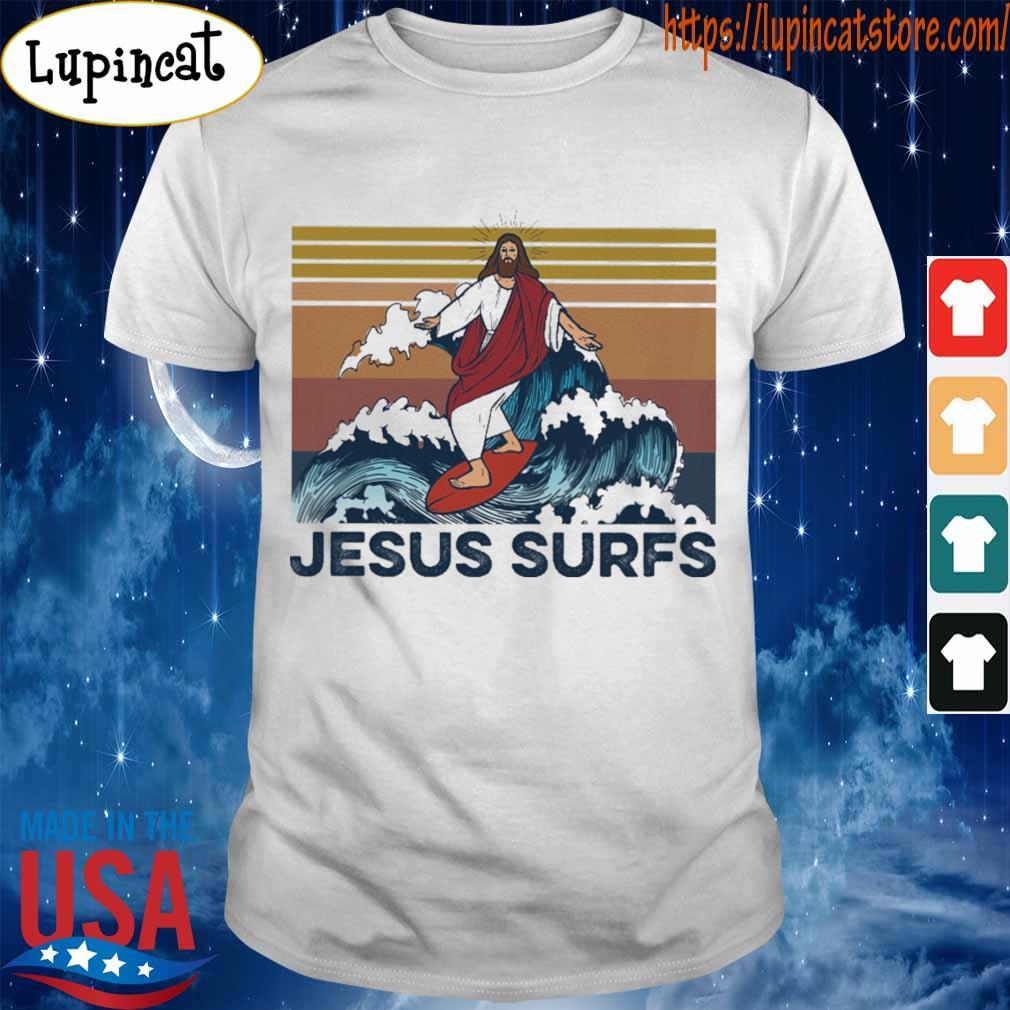 Jesus surfs vintage shirt