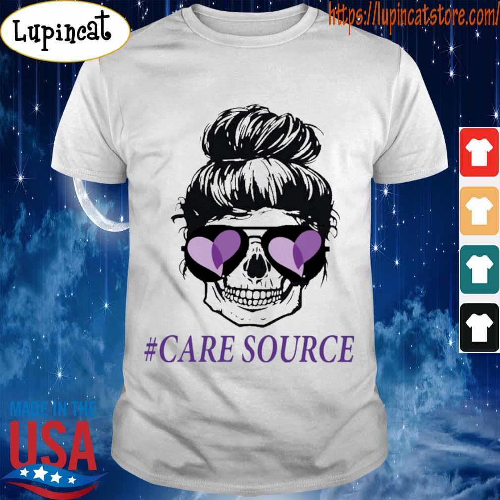 Mom life skull #Care Source shirt