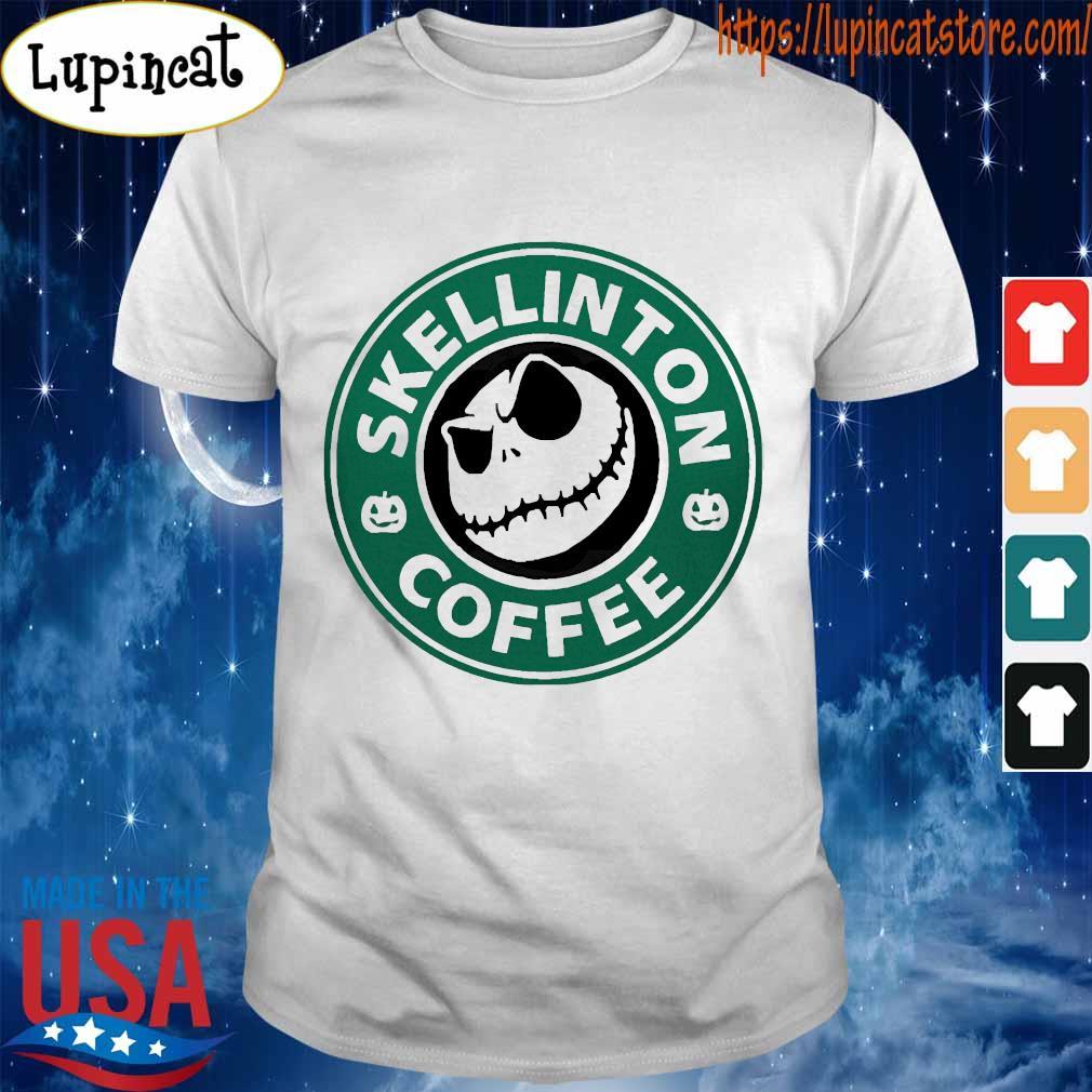 Skellington coffee shirt