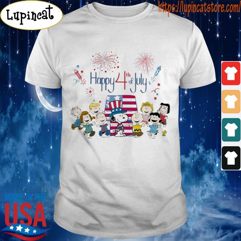 The peanuts happy 4th of July American flag shirt
