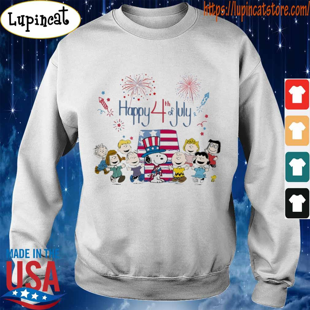 The peanuts happy 4th of July American flag s Sweatshirt
