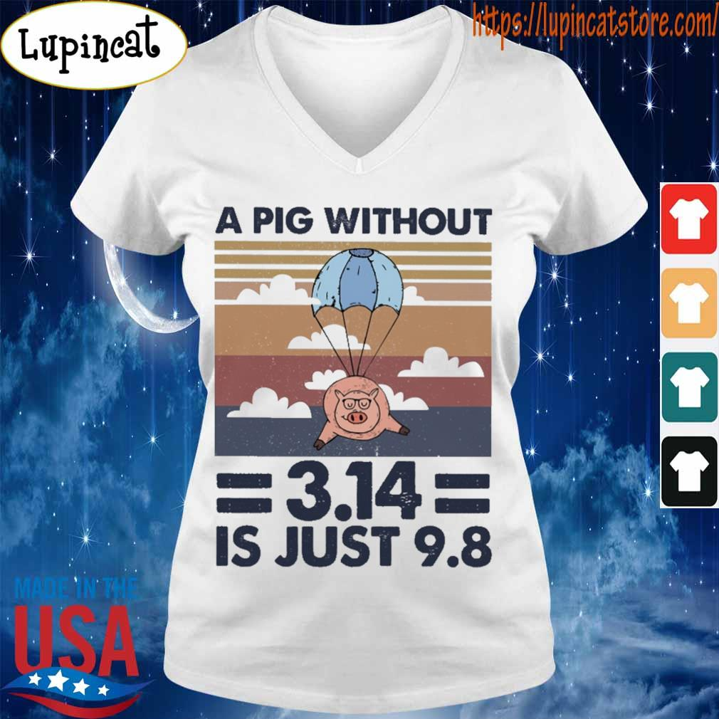 A pig without 3.14 is just 9.8 vintage s V-neck