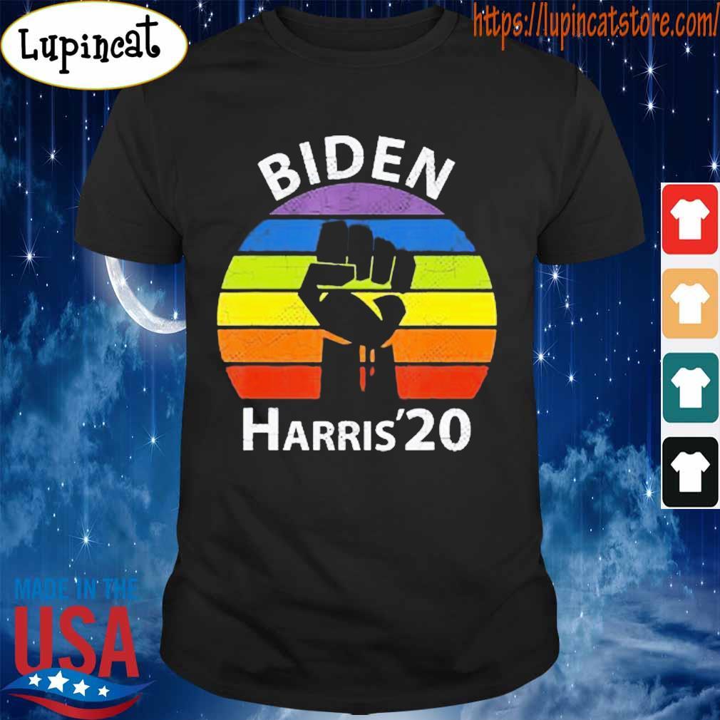 Biden Harris 2020 Rainbow Black Lives Matter Retro shirt