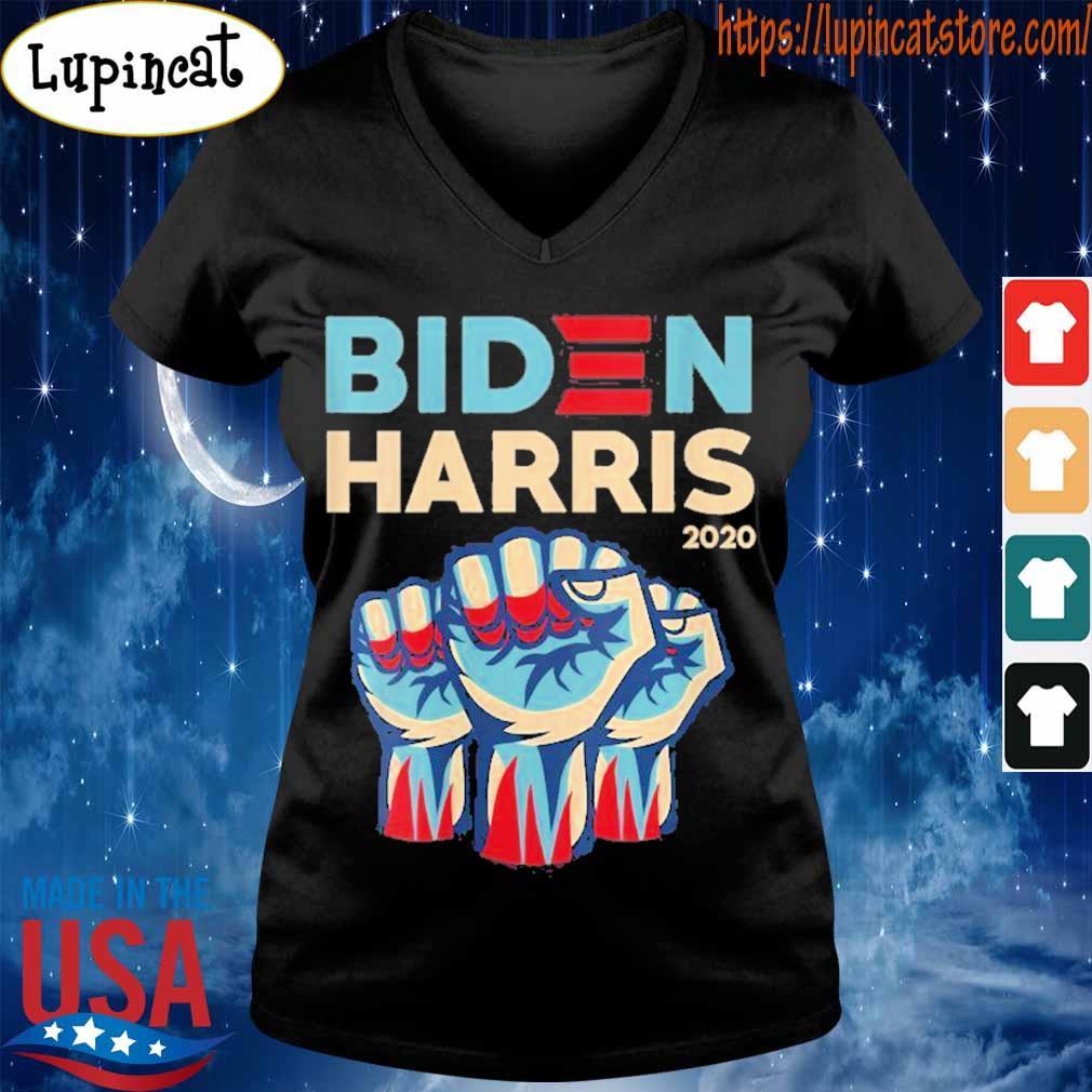 Biden Harris 2020 Strong Hand Shirt V-neck