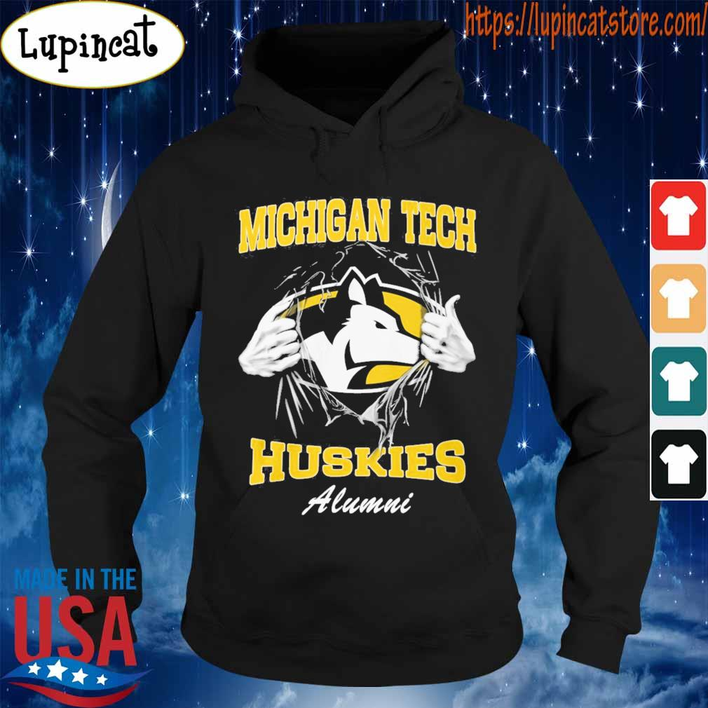Blood inside me Michigan tech Huskies alumni s Hoodie