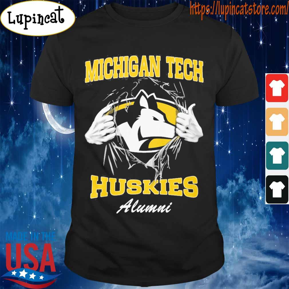 Blood inside me Michigan tech Huskies alumni shirt