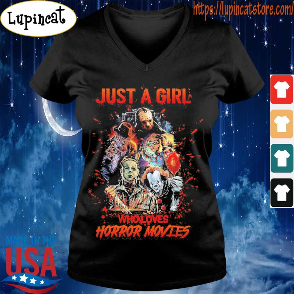Just a Girl who loves Horror Movies Halloween s V-neck