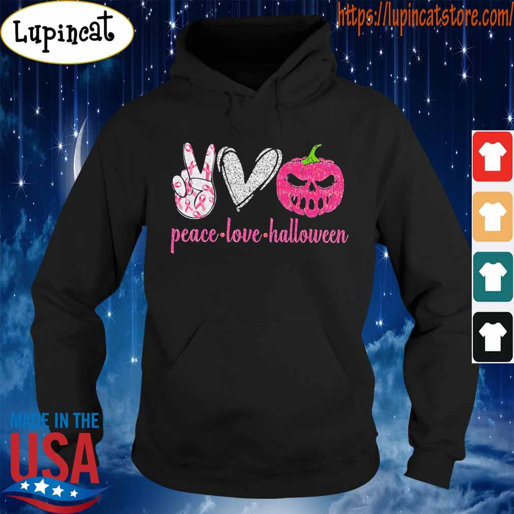 Official Peace love Halloween diamond s Hoodie