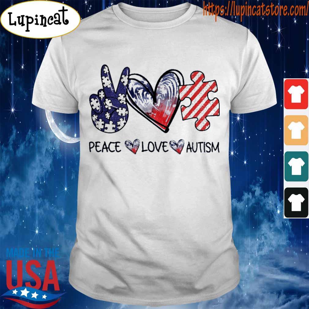 Peace Love Autism diamond shirt