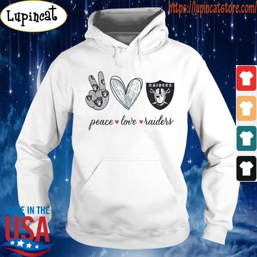Peace Love Raiders diamond s Hoodie