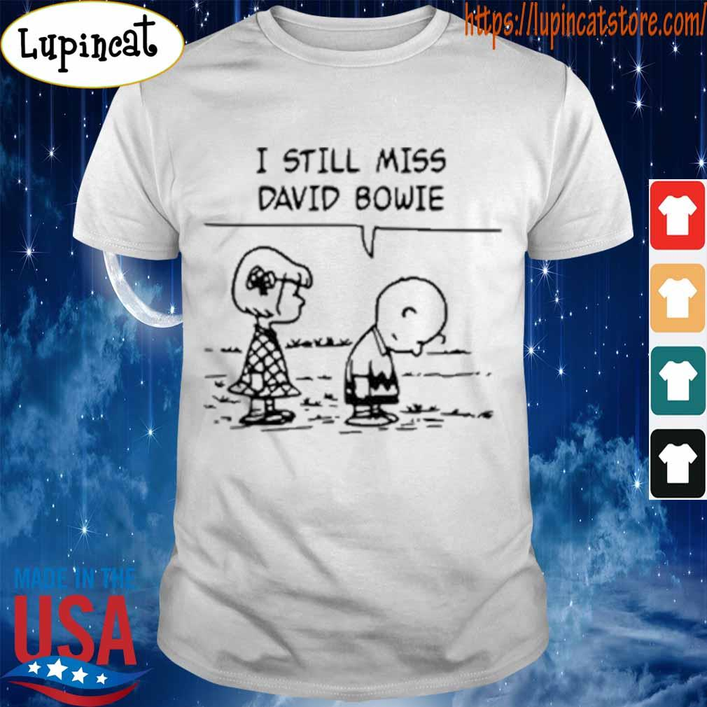 Sally Brown and Charlie Brown I still miss David bowie shirt