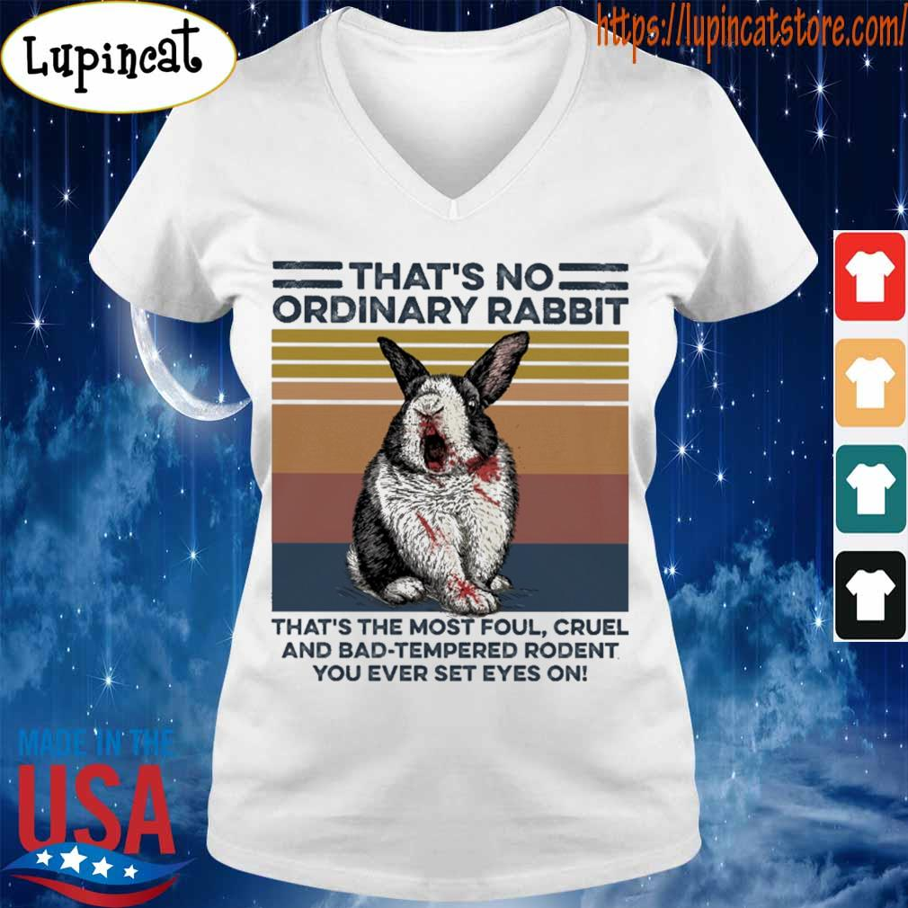 That's no ordinary Rabbit that's the most foul cruel and bad tempered rodent You ever set eyes on vintage s V-neck
