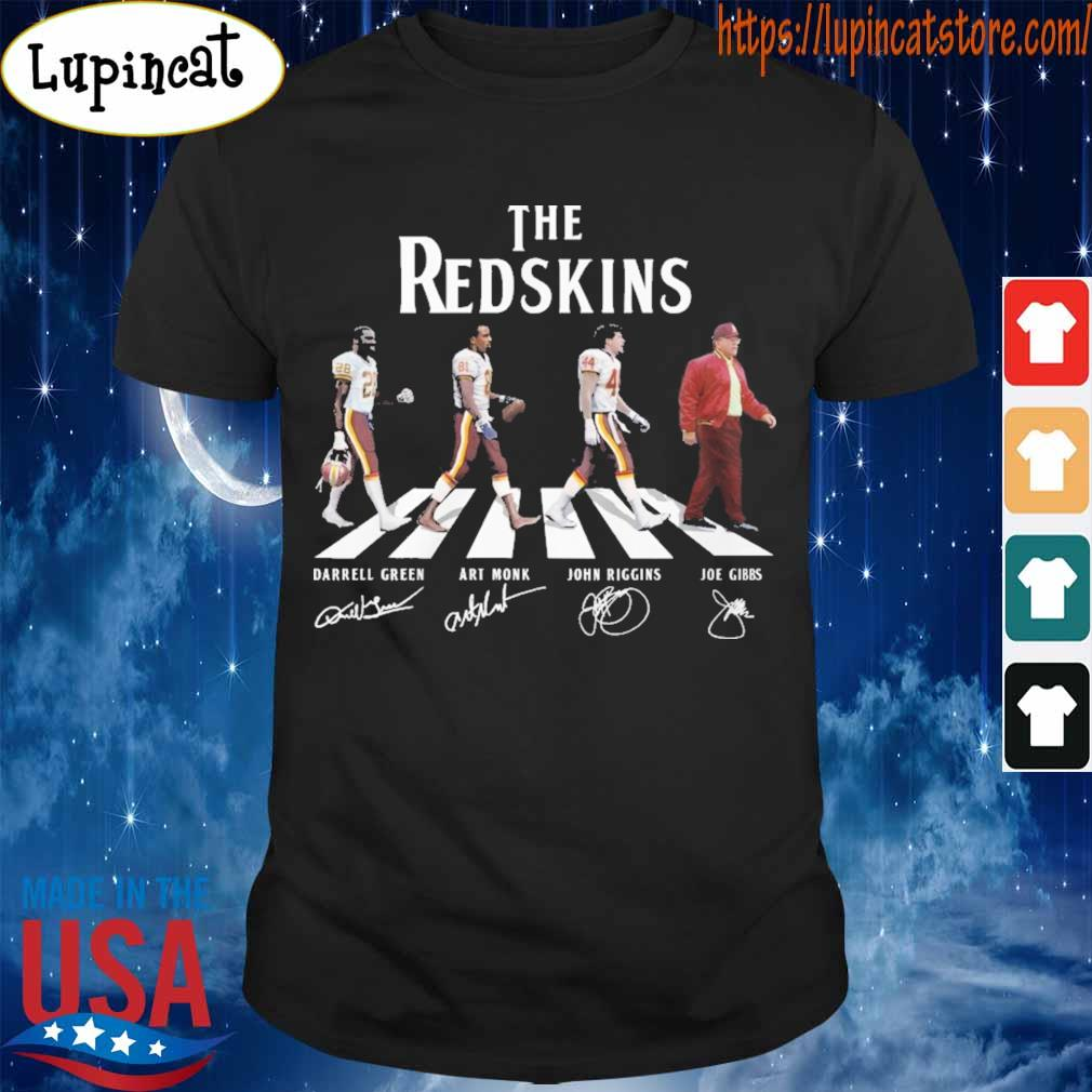 The Redskins team abbey road signatures shirt