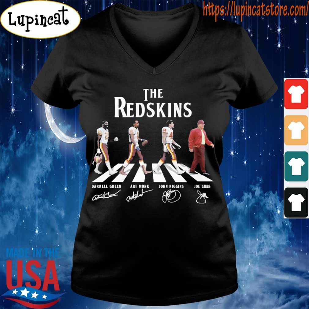 The Redskins team abbey road signatures s V-neck