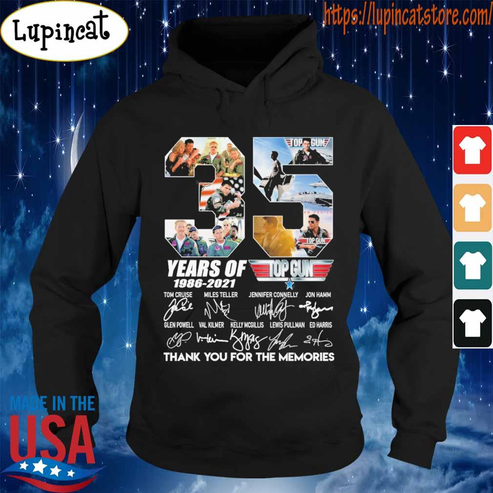 Untitled-1Top Gun 35 years of 1986-2021 thank you for the memories signatures s Hoodie