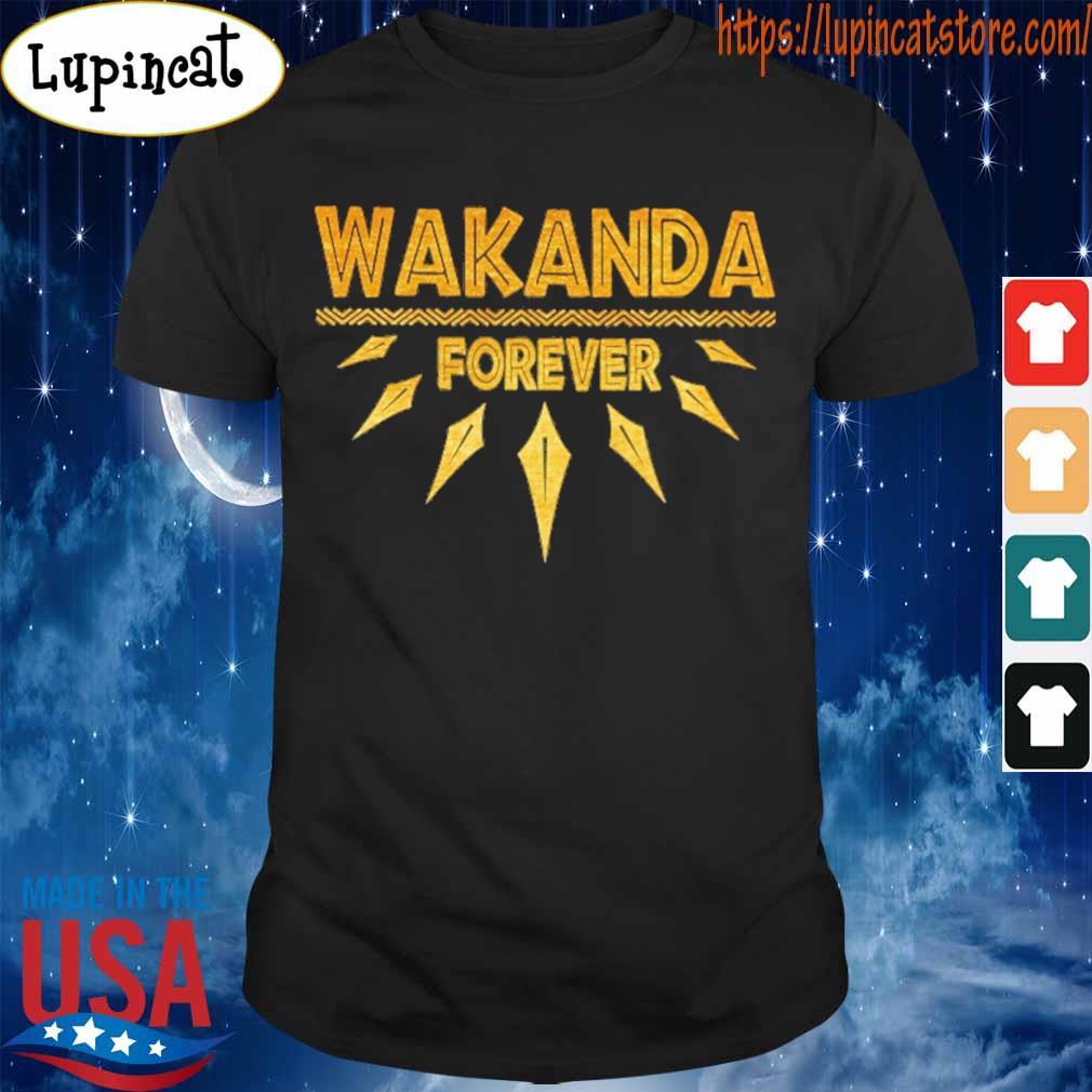 Wakanda forever gold foil shirt