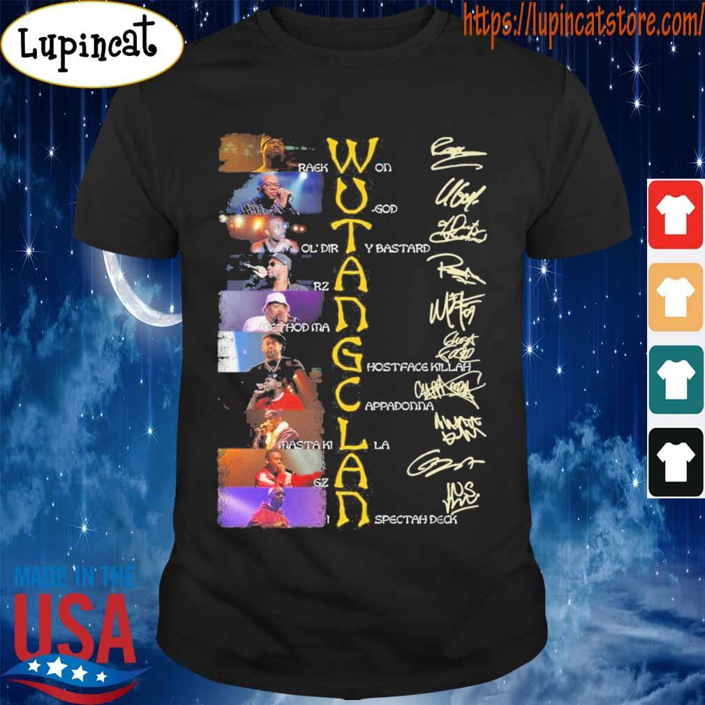 Wu Tang Clan character signature shirt