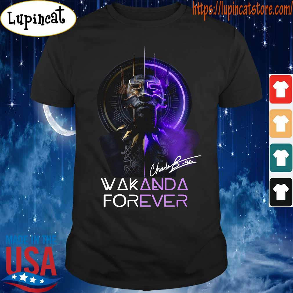 Chadwick Boseman Black Panther Wakanda king forever legend never die shirt