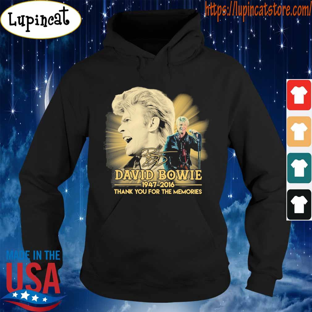 David Bowie 1947 2016 thank you for the memories signature s Hoodie
