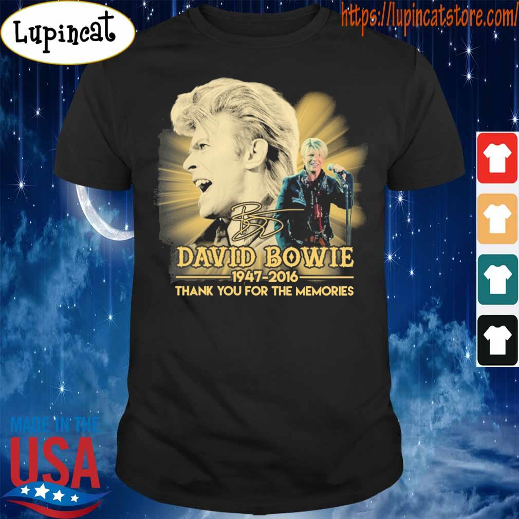 David Bowie 1947 2016 thank you for the memories signature shirt