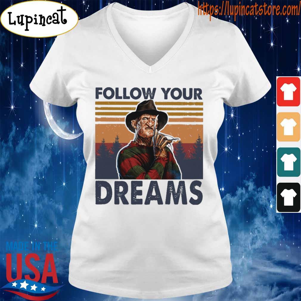 Freddy Krueger follow your Dreams vintage s V-neck