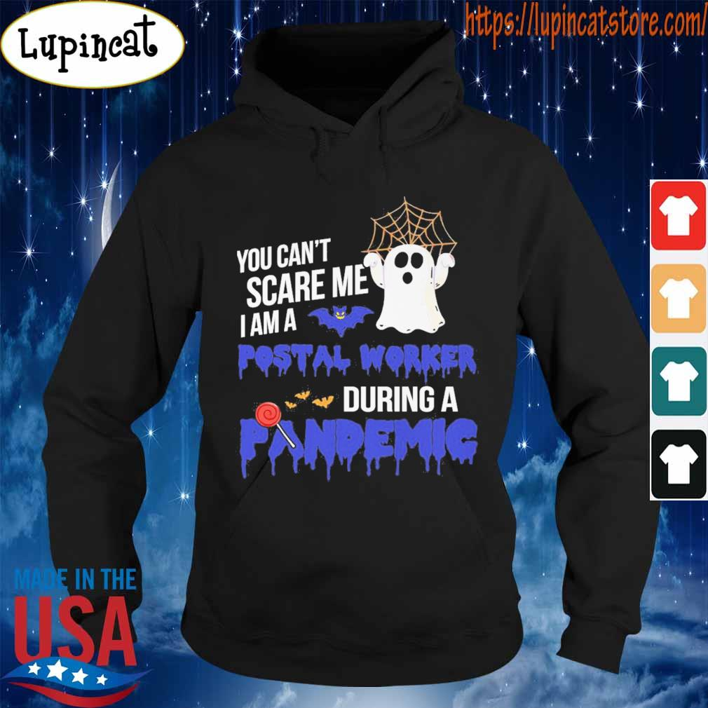 Ghost You can't scare Me I am a Postal worker During a Pandemic blue s Hoodie
