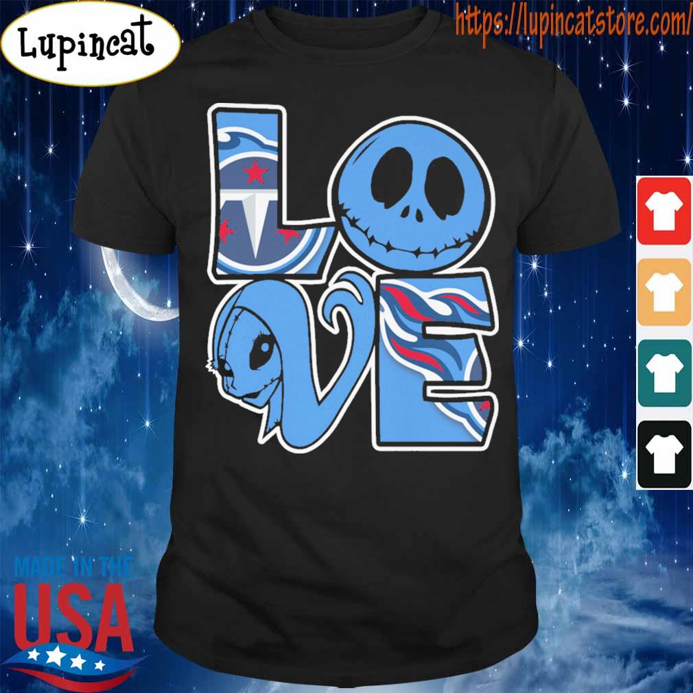 Jack Skellington and Sally love Tennessee Titans shirt