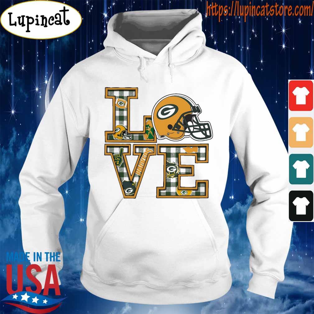 Love Green Bay Packers helmet team s Hoodie