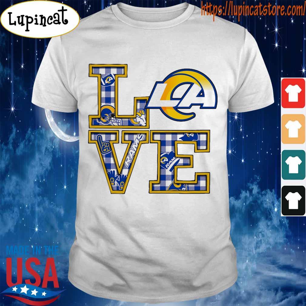 Love Los Angeles Rams helmet team shirt
