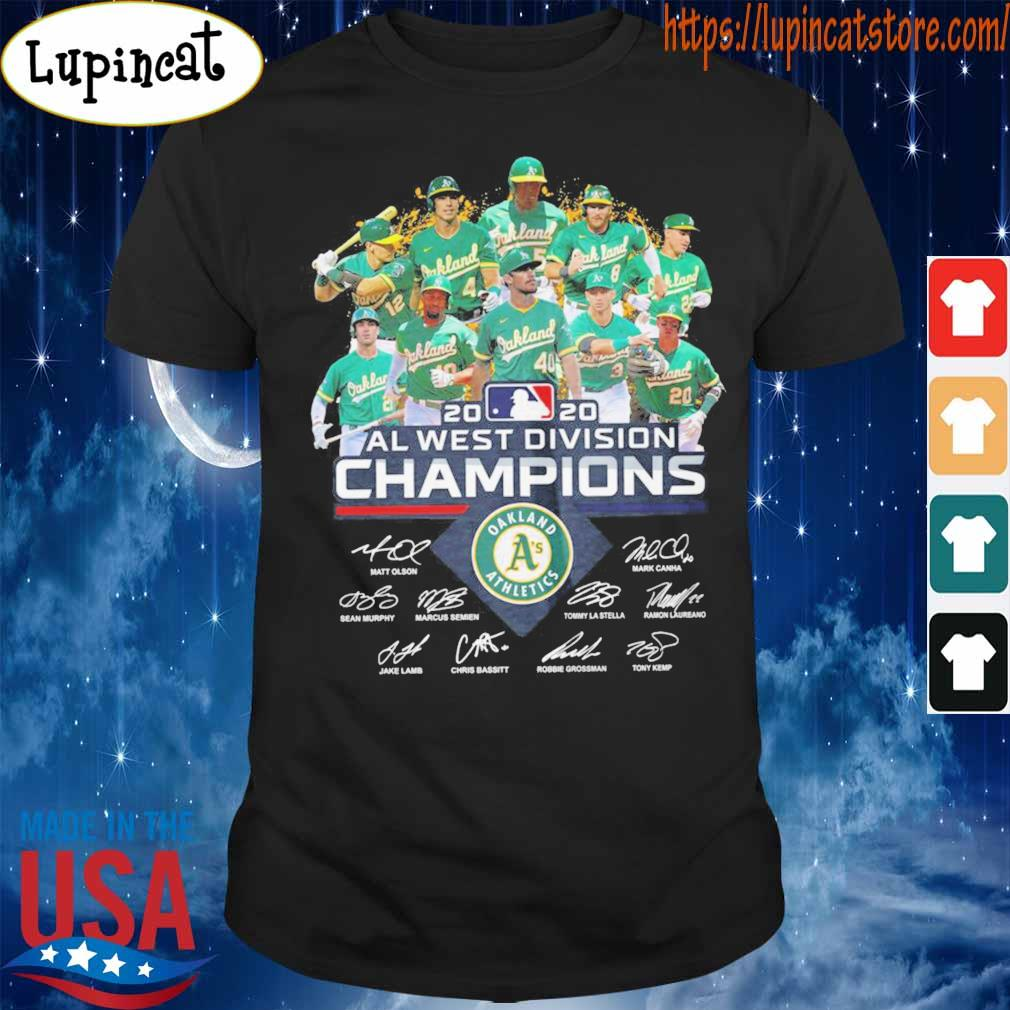 Oakland Athletics 2020 al west division Champions signatures shirt