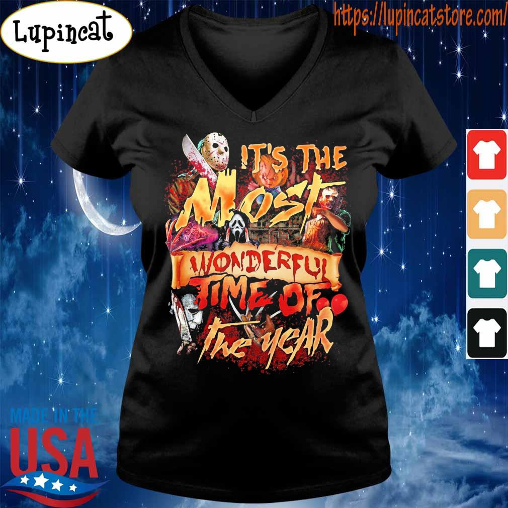 Official Horror character It's the most wonderful time of the year blood Halloween s V-neck