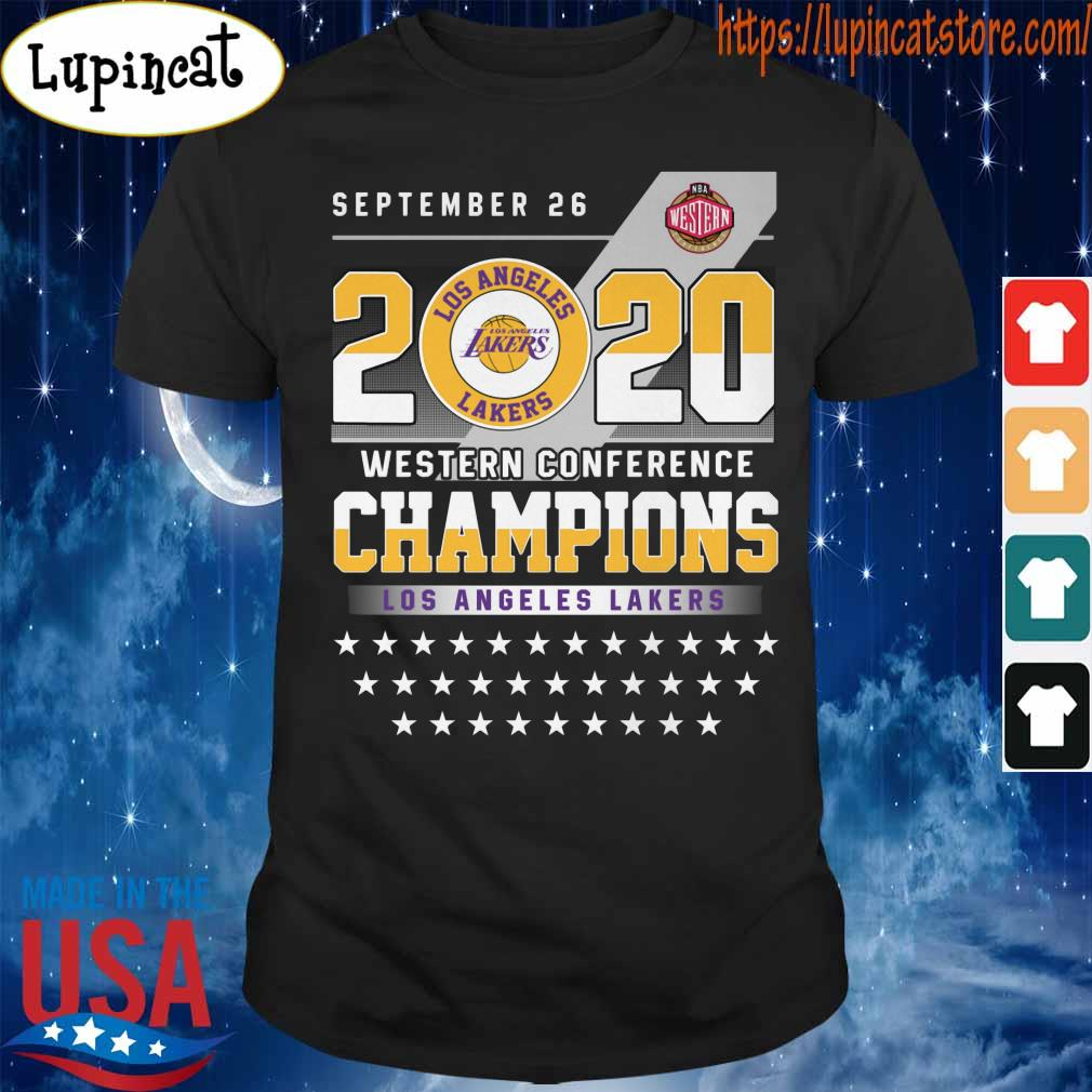 Official Los Angeles Lakers September 26 Western Conference Champions shirt