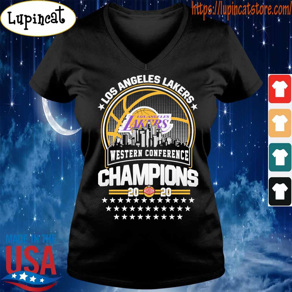 Official Los Angeles Lakers Western Conference Champions 2020 NBA Finals s V-neck