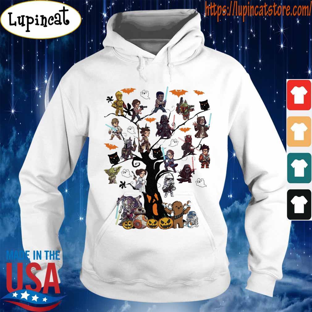 Star wars chibi characters tree Halloween s Hoodie