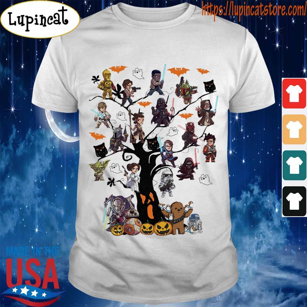 Star wars chibi characters tree Halloween shirt