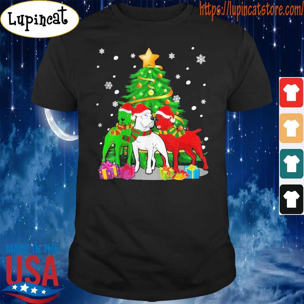 Funny Cane Corso Dog Merry Christmas shirt