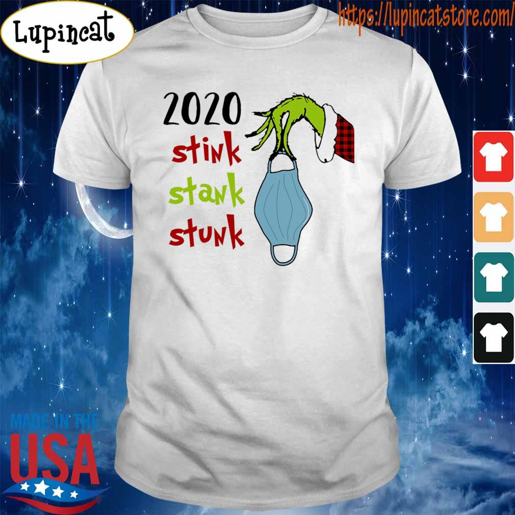 Grinch hand face mask 2020 stink stank stunk Christmas shirt