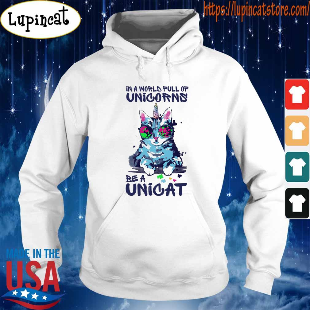 In a world full of Unicorns be a Unicat s Hoodie