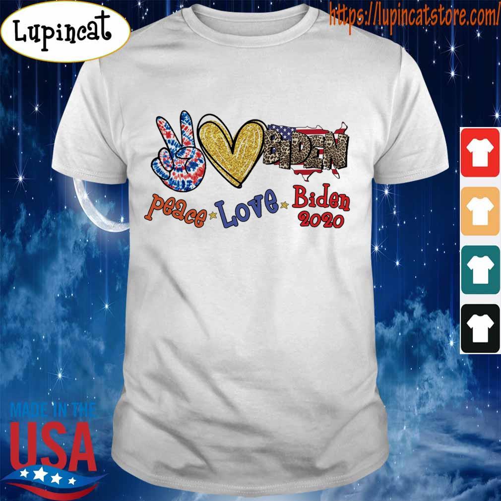 Peace Love Joe Biden 2020 American flag shirt