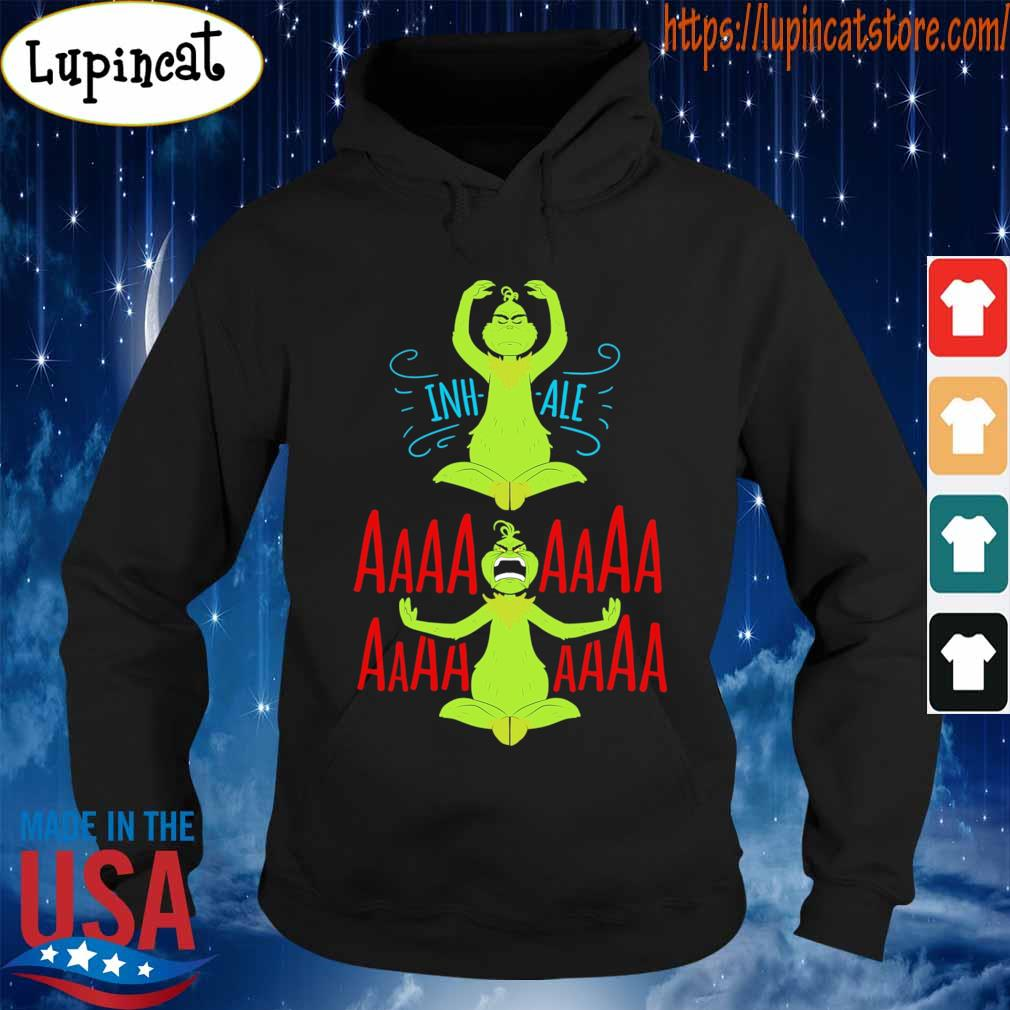 The Grinch Yoga Inhale Aaaaaa s Hoodie