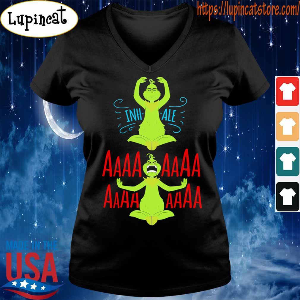 The Grinch Yoga Inhale Aaaaaa s V-neck